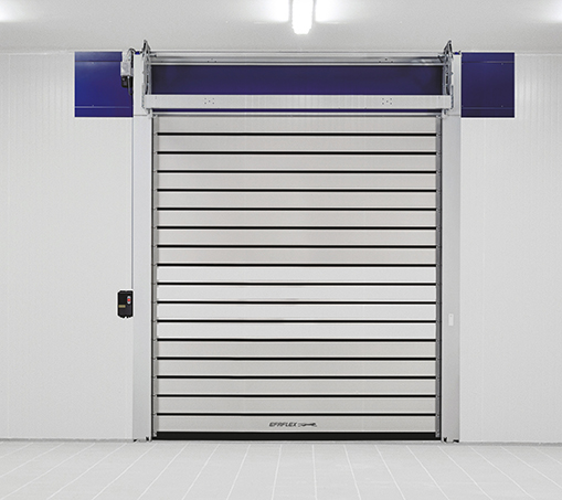 High-speed spiral doors for industrial and commercial applications