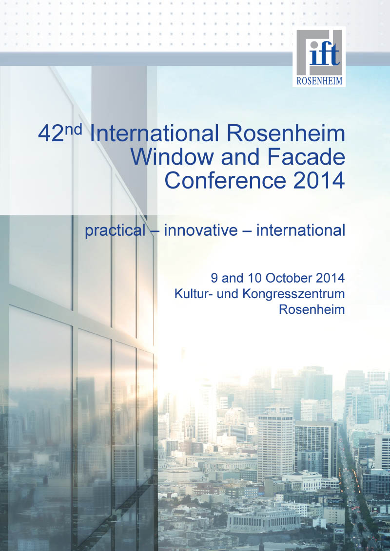 International Rosenheim Window & Facade conference 2014
