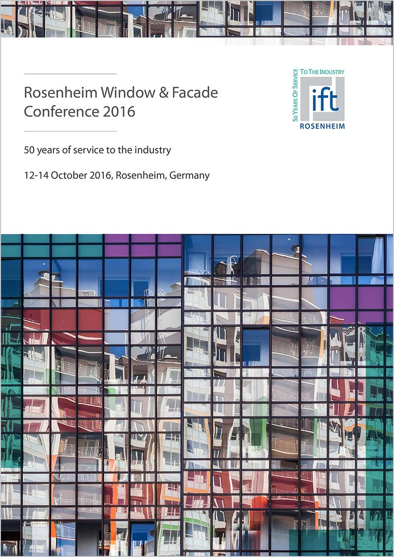 ift Yearbook Window + Facade - ift publications and lectures of Rosenheim Window & Facade Conference 2016