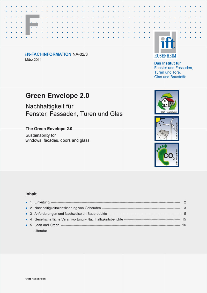 ift-Fachinformation NA-02/3 - Green Envelope 2.0 (Druckexemplar)