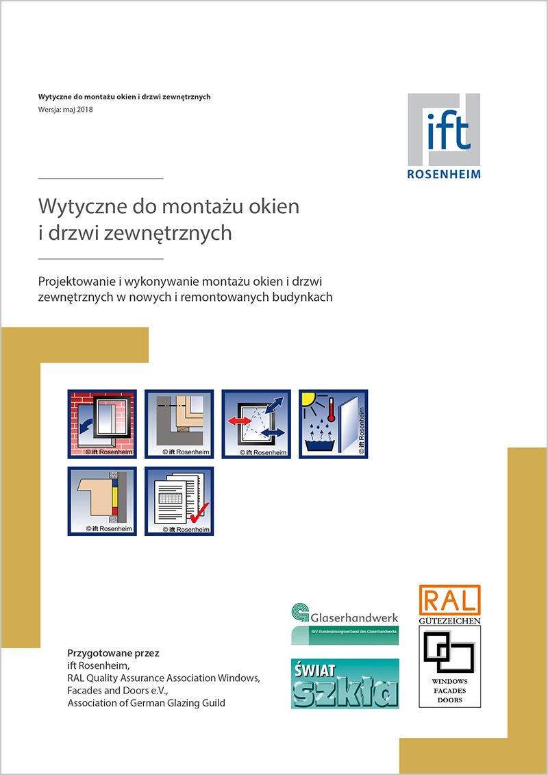 (RAL) Guideline for installation of windows and external pedestrian doors (Montageleitfaden) - Polish edition