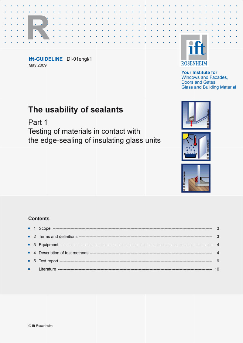 ift-Guideline DI-01engl/1 The usability of sealants Part 1 (download)
