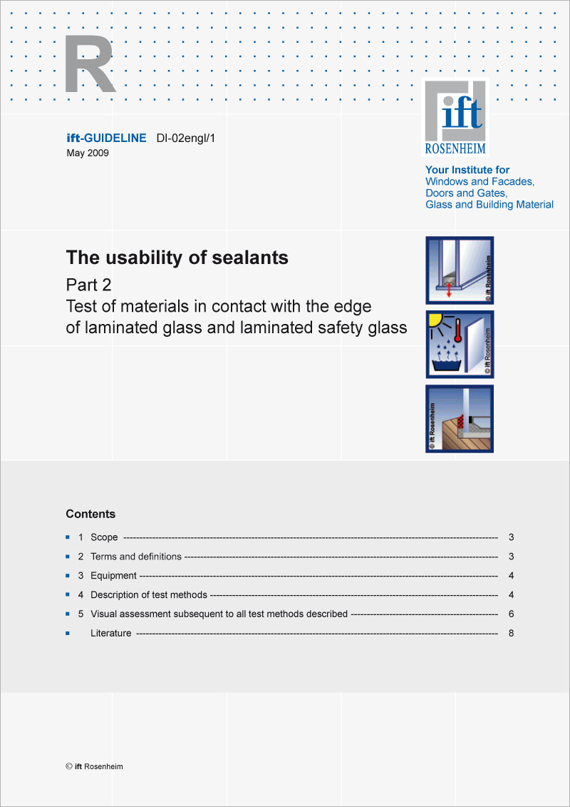 ift-Guideline DI-02engl/1 The usability of sealants Part 2 (printed version)