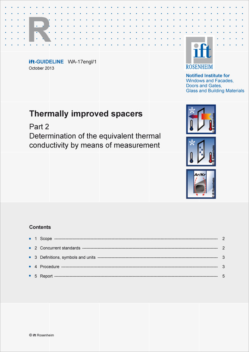 ift-Guideline WA-17engl/1 Thermally improved spacers Part 2 (printed version)