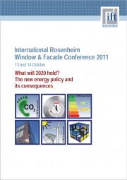 International Rosenheim Window and Facade Conference 2011 (printed version)