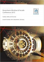"Rosenheim Window & Facade Conference 2015 ""Quality, Safety and Security"" (printed version)"