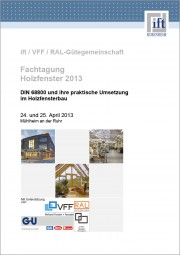 Tagungsband Fachtagung Holzfenster 2013 (Download)
