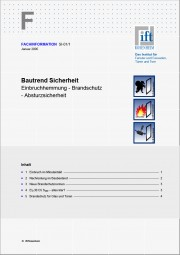 ift-Fachinformation SI-01/1 Bautrend Sicherheit (Download)