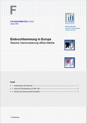 ift-Fachinformation EI-02/1 Einbruchhemmung in Europa (Download)