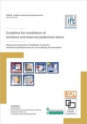 (RAL) Guideline for installation of windows and external pedestrian doors (Montageleitfaden)