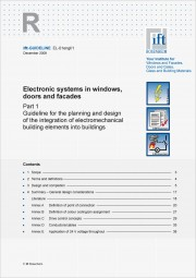 ift-Guideline EL-01engl/1 Electronic systems in windows, doors and facades (download)