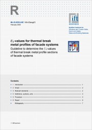 ift-Guideline WA-03engl/03 Uf-values for thermal break metal profiles of facade systems (printed version)