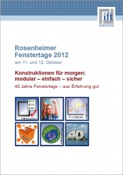 Tagungsband der Rosenheimer Fenstertage 2012 (Download)