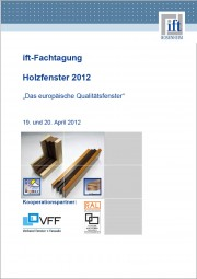 Tagungsband ift-Fachtagung Holzfenster 2012 (Download)